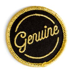 Good as gold - Embroidered patch with merrowed edge - Sparkly gold thread - Iron-on adhesive backing - Measures wide Cute Patches, Pin And Patches, Sew On Patches, Iron On Patches, Jacket Patches, Iron On Embroidered Patches, Embroidery Patches, Merit Badge, Morale Patch