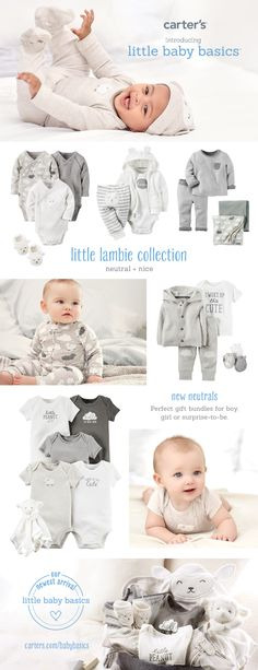 Keeping it a surprise? All your favorites in neutral colors for boy or girl. Shop more gift ideas at carters.com.