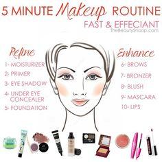 Make Up - 5 minute makeup routine for speed & effeciancy - Wallpaper Pinme Natural Makeup Looks, Simple Makeup, Makeup Revolution, Makeup Tips, Eye Makeup, Makeup Ideas, Makeup Tutorials, Makeup Inspo, Beauty Makeup
