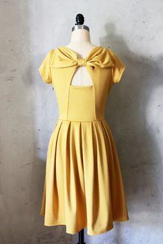 Holly Golightly Dress in Mustard - Fleet Collection