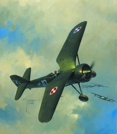 Ww2 Aircraft, Military Aircraft, Fighter Pilot, Fighter Jets, Aircraft Painting, Airplane Art, Ww2 Planes, Aviation Art, Military Art