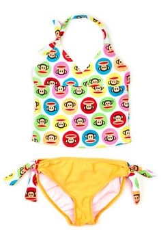 How cutesy is this Paul Frank Tankini Set?