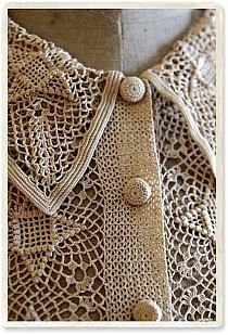 Thread Crochet, Crochet Trim, Irish Crochet, Crochet Lace, Crochet Shirt, Crochet Cardigan, Vintage Crochet Dresses, Mode Crochet, Vanessa Montoro