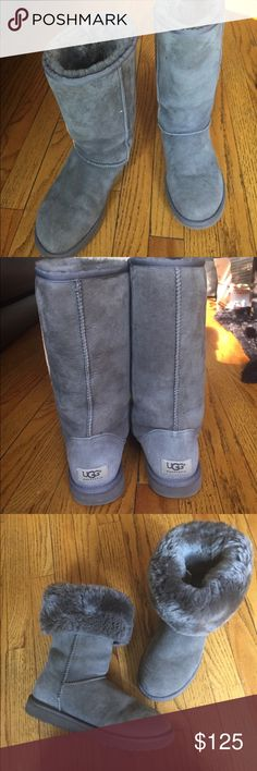 Classic Tall Ugg Boots Classic Tall Gray Ugg Boots • Size 7 • 8/10 Condition - Worn a handful of times • Authentic UGG Shoes