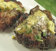 Grilled Lamb Chops with Dijon-Basil Butter