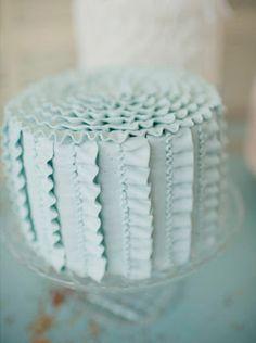Wedding Cakes Pictures: Ruffled Wedding Cakes