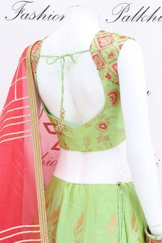 Lavish Light Green Pure Silk Designer Lehenga Set From Palkhi Fashion Chaniya Choli Designer, Blouse Desings, Saree Jewellery, Silk Lehenga, Beautiful Color Combinations, Pure Silk, New Fashion, Designer Dresses, Cool Outfits