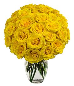 One Dozen Yellow Roses at From You Flowers | Цветы и Розы