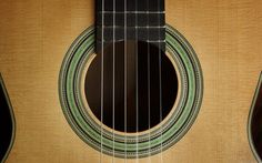 Torres Inspired Rosette on a Black Swan Classical Guitar