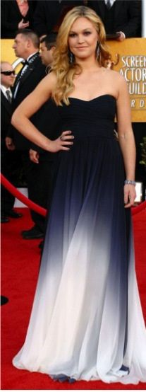 Cor.Combinação monocromática.Julia Stiles,SAG Awards-2011