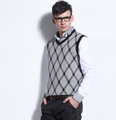 New Men's clothing of business vest magnesite v collar sweater, male knitting shirt MS012 retail free shipping on AliExpress.com. $19.57 New Man Clothing, Men's Clothing, Sweater Vests, Sweaters, Men's Knitwear, Male Photography, Knit Shirt, Male Models, Retail