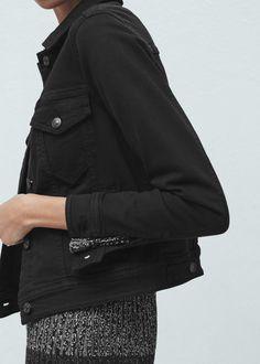 Black denim jacket - Jackets for Women | MANGO USA