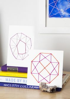 These days I've been obsessive about geometric patterns. The steadiness between easy and daring, mesmerizing and minimal seize my creativeness. Brush Embroidery, Dmc Embroidery Floss, Embroidery Needles, Diy Wall Art, Diy Art, Wall Decor, Geometric Artwork, Geometric Patterns, How To Make Diy