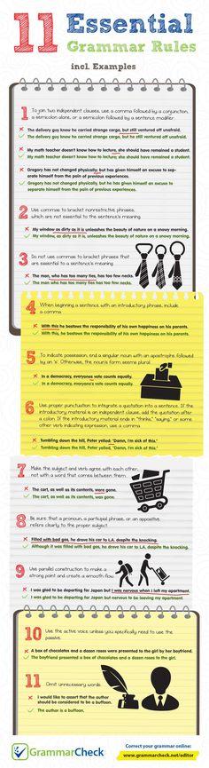11 Essential Grammar Rules