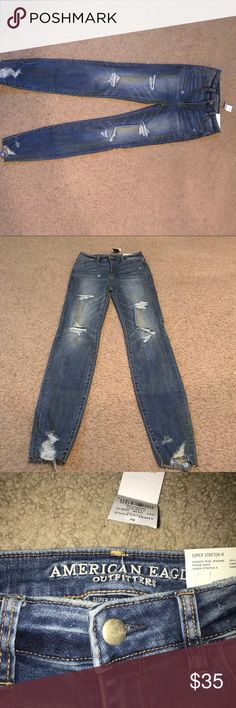 American eagle jeans American eagle highest rise jean leggings NWT size 0 American Eagle Outfitters Jeans Skinny