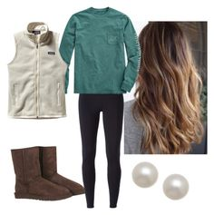 """"""".."""" by caseyyh ❤ liked on Polyvore featuring UGG Australia, NIKE, Vineyard Vines, Patagonia and Honora"""