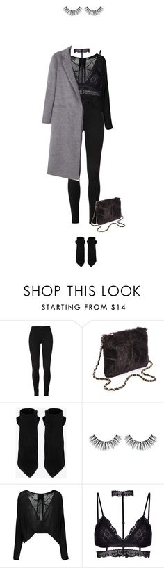 """""""And then there is you."""" by azzra ❤ liked on Polyvore featuring Yves Saint Laurent, MANGO and GetTheLook"""