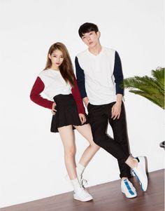 Korean Couple Look - Official Korean Fashion Couple Outfits, Dance Outfits, Sexy Outfits, Couple Clothes, Korea Fashion, Asian Fashion, Daily Fashion, Fashion Couple, Girl Fashion