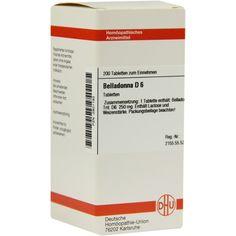 BELLADONNA D6 Tabletten:   Packungsinhalt: 200 St Tabletten PZN: 02801193 Hersteller: DHU-Arzneimittel GmbH & Co. KG Preis: 10,49 EUR…