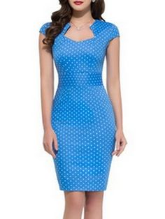 Sexy  Polka Dot  With Zips Bodycon-dress Bodycon Dresses from fashionmia.com
