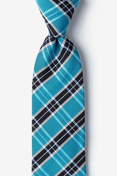 Turquoise Vienna Plaid Tie Classic Suit, Tie Accessories, Prom Outfits, Tie Styles, Men Clothes, Bowties, Neckties, Men's Fashion, Fashion Tips