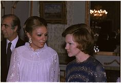 The Shahbanou of Iran and Rosalynn Carter - 12/31/1977