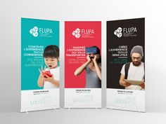 Kakémonos et affiches de l'évènement FLUPA UX Days 2016