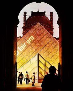 «#museedulouvre #pyramide #louvre»