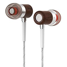 Amazon.com: Langsdom® Premium Genuine Wood In-ear Noise-isolating Earphones with Microphone Super Bass Hi-fi Pure Music Audio Selected Natural Wood Housing Music Earphones Cellphones Earbuds Wooden Materials (W6 White): Electronics