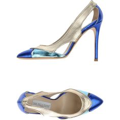 Ines Della Rovere London Pump ($155) ❤ liked on Polyvore featuring shoes, pumps, blue, blue leather shoes, genuine leather shoes, leather stiletto shoes, blue pumps and heels stilettos