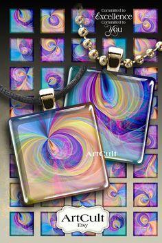 PURPLE FANTASY  1 x 1 pulgada tamaño imágenes digitales por ArtCult