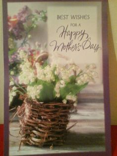 An old mothers day card