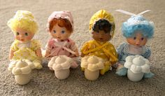 Lot of vintage Strawberry Shortcake Berry Babies Baby complete