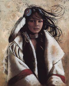 by Penni Anne Cross ~ Native American Woman