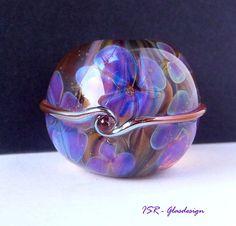 Viola  Glasperle  lampwork bead  ISR  Glasdesign von ISRGlasdesign, $33.00