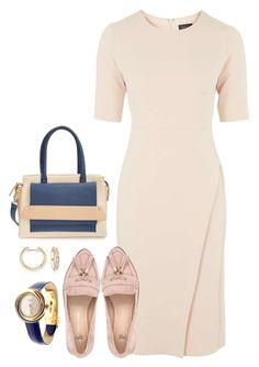 """""""Nude in the Office"""" by soleuza ❤ liked on Polyvore"""