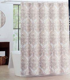 Peach Bath Chevron Zigzag Shower Curtain Bath College Bathroom