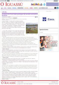 Grupo Escoteiro Iguaçu 43º SC Porto União: O Iguassú - Escoteiros de Porto União participam d...