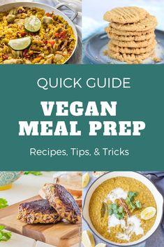 Vegan meal prep recipes, tips, and tricks Vegan Recipes For One, Vegan Recipes Videos, Vegan Breakfast Recipes, Healthy Recipes, Vegan Meal Plans, Vegan Meal Prep, Vegan Burgers, Quick Easy Meals, Food Hacks