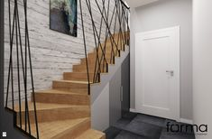 Staircase Storage, Staircase Design, Iron Stair Railing, Hall Furniture, Modern Stairs, Interior Stairs, Nordic Design, Basement Remodeling, New Homes