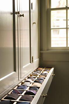 Walk-in Tie drawer Georgian Colonial Custom Home @llwdesign