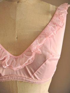Annette Vintage 1960s Bubble Gum Pink Bralette by TheSparklingCocktail