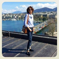 Bye Geneva ! It was a great trip #loveuall #greatpeople #greatwelcome @rogervivier #commentjemhabilleaujourdhui with @sophiegachet @lydiapujolsmakeup @delphinecourteillehair #today #iloveswitzerland #lesbergues #hotel #fourseasonsgeneva