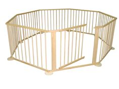 LARGE 8 SIDED FOLDABLE WOODEN BABY PLAYPEN ROOM DEVIDER INDOOR AND OUTDOOR USE in Baby, Nursery Decoration & Furniture, Play Pens   eBay!