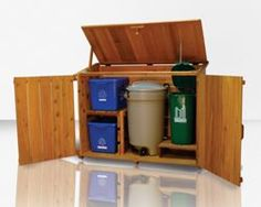 garbage and recycling storage shed