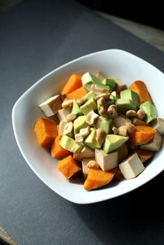 Sweet Potato, Tofu, and Avocado Breakfast Bowl and 10 other vegan high protein bfasts