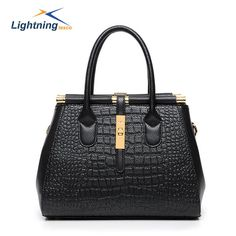 New 2015 High Quality PU Messenger Bag Women Fashion Tote Bag Classical Crocodile Pattern Shoulder Bag Lady Hand Bag HB413F