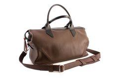 Travel Bag Brown Leather Duffle bag от Sashacraftscom на Etsy