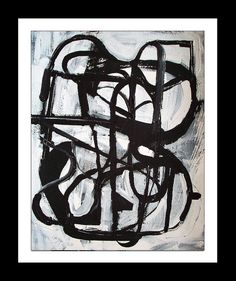Original black and white modern abstract urban by MODERN707