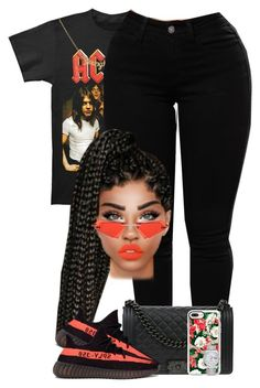 """ACDC"" by chiamaka-ikaraoha ❤ liked on Polyvore featuring AC/DC, Chanel, Percy Lau, Casetify, adidas and Rolex"